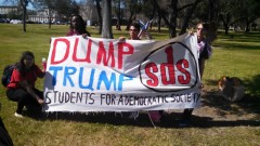 Houston SDS is getting read to protest Trump at the Republican debate