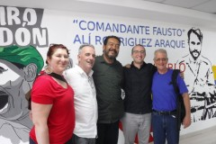 The delegation from Freedom Road Socialist Organization (FRSO) with Venezuelan t