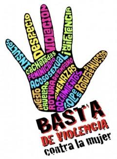Venezuelan poster opposing violence against women