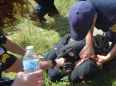 BLM activist being violently arrested at a march in Waupaca, WI