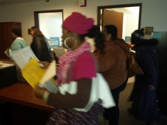 Welfare Rights Committee members on the move, Feb. 26 in the halls of MN Stare
