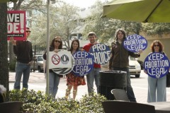 Some of the people at the St. Petersburg, FL rally for reproductive rights.