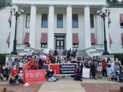 Tallahassee protest against anit-Asian violence.
