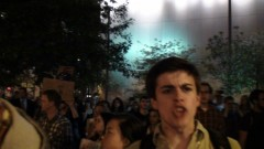 Protester at Occupy Boston