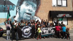 Participants in event marking the life of Fred Hampton, Sr.