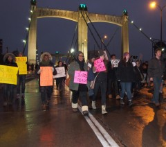 Twin Cites area high school student students march against racist police killing