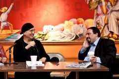 Carlos Montes (left) with Hatem Abudayyeh in Chicago