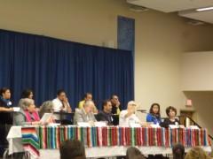Carlos Montes speaking at immigration summit.
