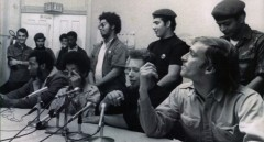 "Jose ""Cha Cha"" Jimenez (second left, front) at 1969 press conference."