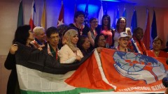 Members of the newly elected Working Women's Coordinating Committee of the WFTU