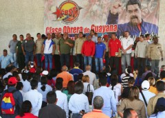 Steel and iron workers in Bolívar State gather to make proposals for the Constit