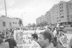 This is a photo of Coca-Cola workers and union activists marching.