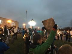 Grand Rapids, MI protest against Donald Trump