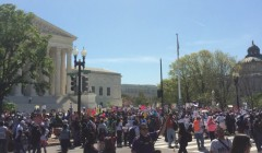 Supporters of Deferred Action rally at Supreme Court