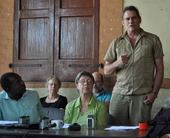 James Jordan speaking in Haiti.