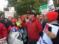 Chicago Teachers Union President Jesse Sharkey Announces strike authorization vo