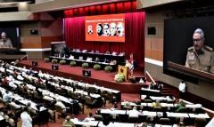 Raúl Castro speaks to Eighth Congress of Communist Party of Cuba.