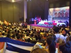 Los Cinco Héroes cubanos hablan en la Universidad de El Salvador el 21 de julio