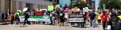 Dallas protest against police crimes.