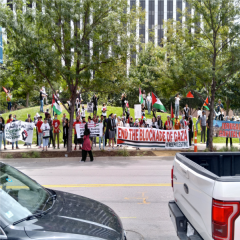 Solidarity with Palestine in Dallas, TX.