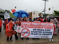 Day 3 of the LA teacher strike