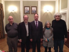 Delegation of U.S anti war activists with Palestinian Ambassador to the Russian