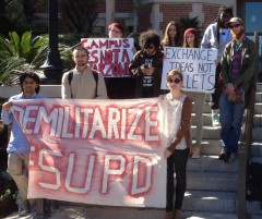 Florida State students protest police militarization