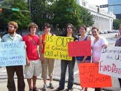 People with protest signs