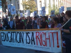 Education rights protest at University of Minnesota