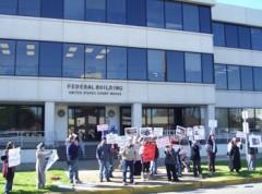 Photo of students marching in Tuscaloosa, Alabama.