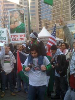 January Gaza War Protest in Cincinnati