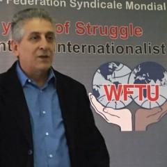 WFTU General Secretary George Mavrikos. (FightBack!News/Staff)