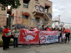 Press conference and picket against Kipp mega charter school in Boyle Heights