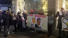 Human Rights Day protest in NYC.
