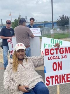 Union workers strike Kellogg's cereal in Battle Creek, Michigan.