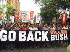 Bush protest in Calcutta