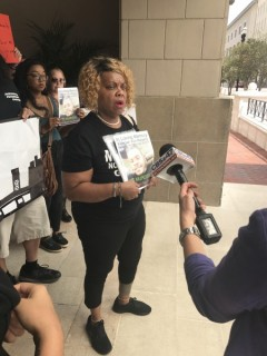 Press conference demands the Jacksonville City Council vote no on 100 new cops.