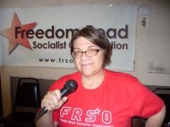 Jess Sundin of Freedom Road Socialist Organization