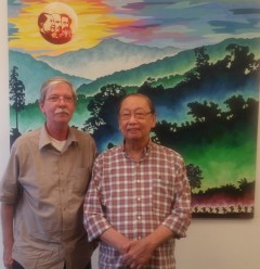 Prof. Jose Maria Sison (right) with Fight Back! editor Mick Kelly.