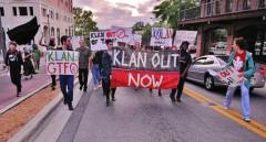 Florida students protest KKK