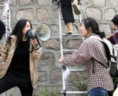 Korean students demand U.S.troops out