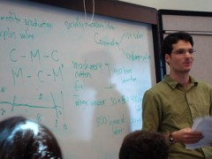 Kosta Harlan teaches economics.