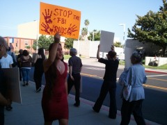 Protest in solidarity with Carlos Montes