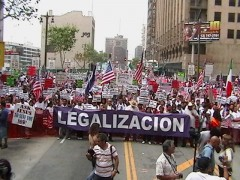 Immigrant rights protest for legalization