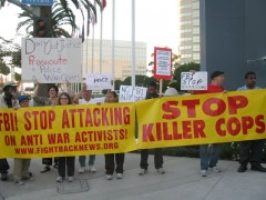 Protest in Los Angeles against US Attorney General Eric Holder
