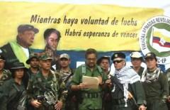 Iván Márquez reading the FARC-EP's new manifesto.