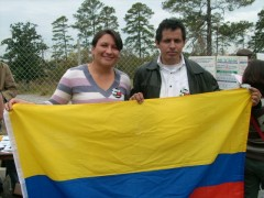 Martina Giraldo at the protest to shut down the School of the Americas, 2009