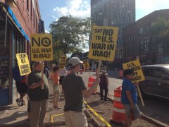 Minneapolis protest against U.S. attacks on Syria and Iraq