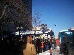 Picketing in the cold