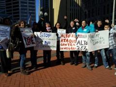 "Protest against ""Secure Communities"" deportation program, Feb. 18, 2012"